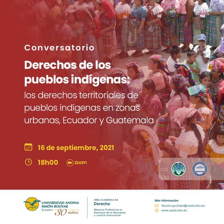 """Conversatorio """"Derechos de los pueblos indígenas"""""""