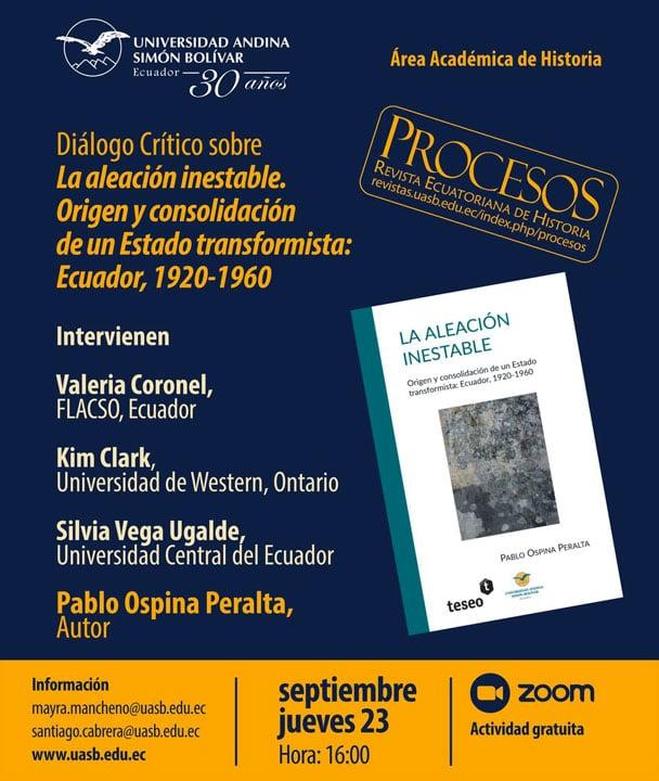 Diálogo Crítico del libro La aleación inestable, de Pablo Ospina