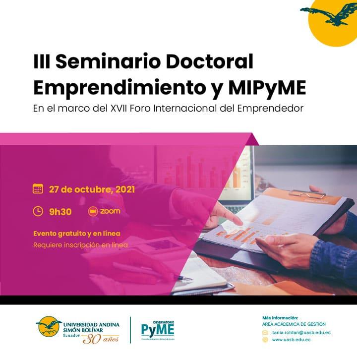 III Seminario Doctoral Emprendimiento y MIPYME