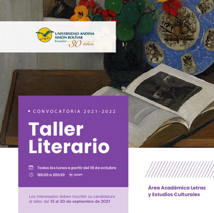 Taller literario, convocatoria 2021-2022